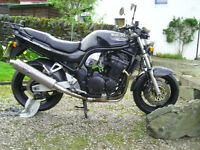 suzuki bandit 1200 gsf n mk 1 carbon black. imaculate for year 2000