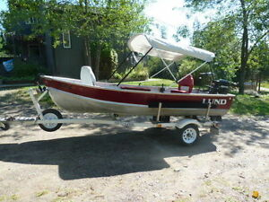Lund 14' Motorboat with 25hp MERCURY & Northwood Boat Trailer