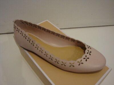 NIB Women's Michael Kors Thalia Ballet Leather Ballet Flats Shoes Pink 7.5-9.5