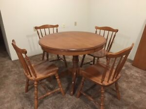 Maple Dining table with 4 chairs