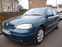 2001 Vauxhall Astra Club1.6 8v 5dr hatchback Full Years MOT