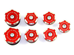 DUCABIKE 848 1098 1198 Frame Plug Kit - Red - New