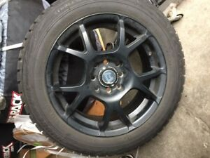 15 Bridgestone Blizzak WS70 Winter Tires and Motegi Racing Blac