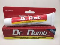 Dr Numb UK Stock, Tattoo Waxing Piercing Numbing Cream 30gm Tube