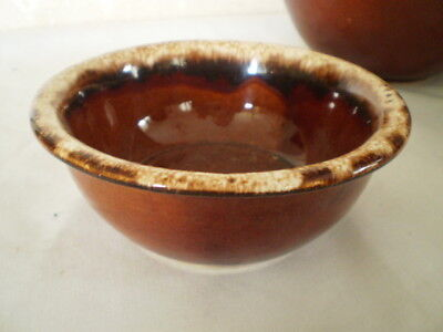 HULL BROWN DRIP GLAZED OVEN PROOF CEREAL / SOUP BOWL - 5 1/4 ""