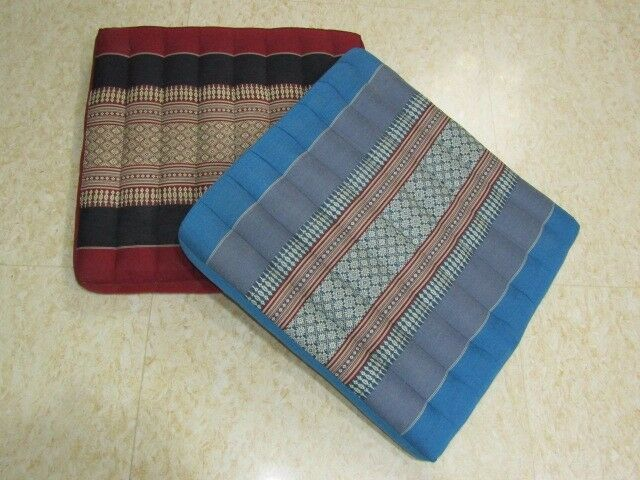 BRAND NEW Large Cushions (Jim Thomson design) 4 pieces (in blue and maroon colour)