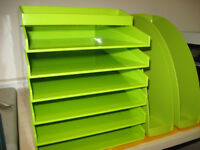 Paper filing trays with magazine holders