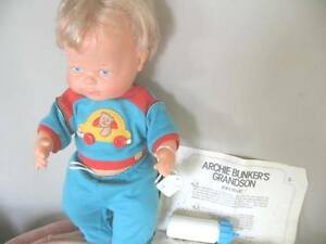 """14"""" 1976 IDEAL JOEY STIVIC ARCHIE BUNKER GRANDSON DOLL IN BOX"""