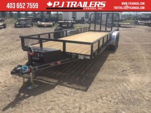 22' Trailer  10400 GVWR  83x22'  HD Spring Loaded Gate