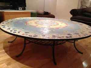 REDUCED!! Spectacular custom made mosaic coffee table. Stratford Kitchener Area image 1