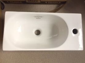 (Bathstore) Trio Wash rectangular cloakroom basin (new & boxed)