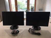 """2x 19"""" ASUS MONITORS - Perfect for working from home - £50 ONO"""