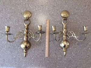 Brass candle sconces - 2