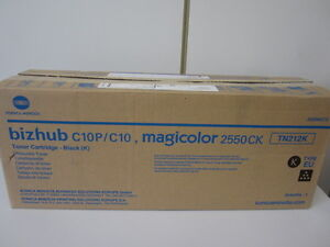 Original Toner Konica Minolta magicolor 2550 TN-212K für bizhub C10 C10P NEU