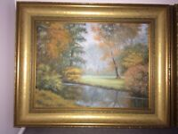 Oil painting Autumn at Zela-Wola-Poland £60 ono Buyer collects Little Paxton