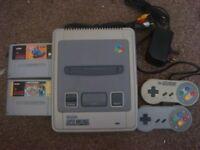 super nintendo snes console with mario all stars for sale or swap for retro console or funko pops