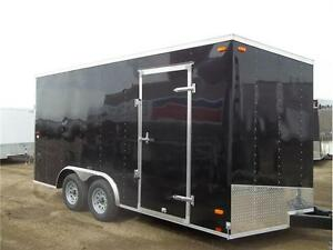 8.5X16 SLOPE NOSE V WITH RAMP DOOR 7' TALL $7699.00