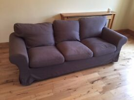 3 seater Fabric covered settee's / Sofa X2