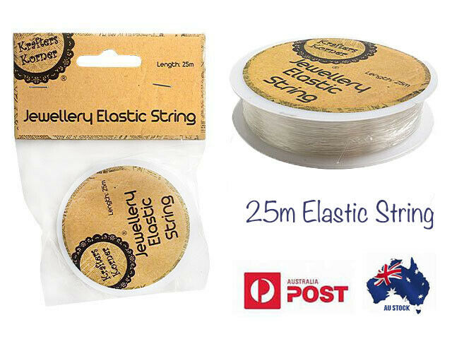 Jewellery - New 25m Elastic String Stretch Clear Thread Cord Jewellery Beads DIY Craft Wire
