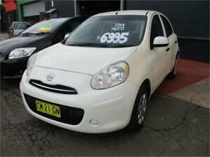 2014 Nissan Micra K13 MY13 ST White 4 Speed Automatic Hatchback Camden Camden Area Preview