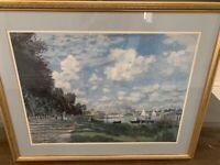 River scene framed print - 80cm x 67cm - £10