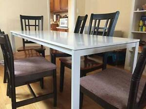 IKEA White Dining Room Table plus 3 FREE CHAIRS