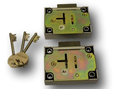 Two keyed the same Gun Cabinet Safe Lock  (1 pair On The Same Key)  With 3 Keys