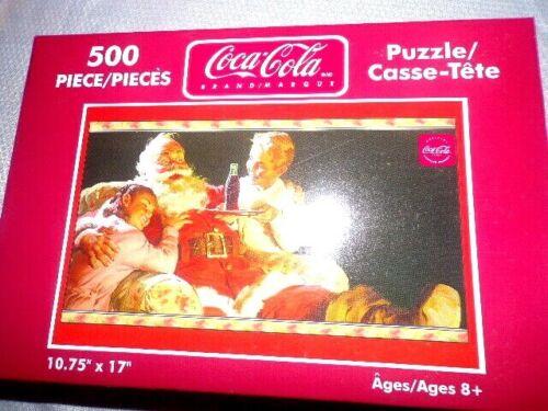 Coke Coca Cola 500 Piece Jigsaw Puzzle Happy Santa Christmas 2004 sealed