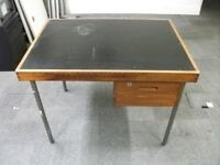 Old Style or Vintage Table ( from 1973 ) . One drawers . Size : H=73.5cm , W=101cm , D=76cm