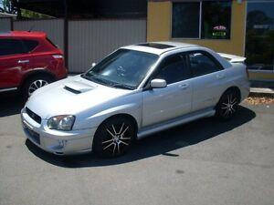 2004 Subaru Impreza S MY04 WRX Club Spec Evo 7 AWD Silver 5 Speed Manual Sedan Waterford Logan Area Preview