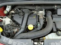 2011 RENAULT CLIO MK3 1.5DCI DIESEL K9K ENGINE WITH PUMP AND INJECTORS **POSTAGE AVAILABLE**