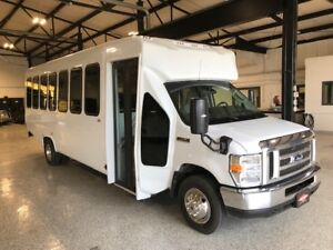 New Ford E450 24 Passenger Rear Luggage Shuttle Bus