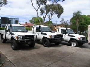 2012 Toyota Landcruiser VDJ79R 09 Upgrade GX (4x4) White 5 Speed Manual Cab Chassis Roselands Canterbury Area Preview