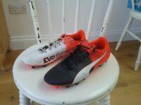 PUMA EVO SPEED football boots, size 7, good condition