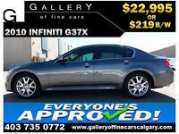 2010 Infiniti G37x AWD $219 bi-weekly APPLY TODAY DRIVE TODAY