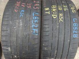 245 35 18 Bridgestone,PotenzaS001,Runflat,88Y,x2 A Pair,5.5mm (152-156 Rayne Road,CM7 2QS)