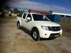 2013 Nissan Navara D40 S6 MY12 ST White 5 Speed Sports Automatic Utility South Grafton Clarence Valley Preview