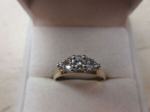 **BEAUTIFUL CLUSTER** Appraised 14KT lady's cast engagement ring