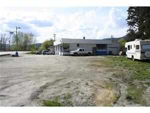 High traffic location. Double lot for sale.