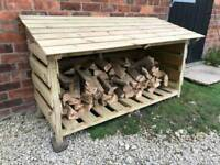 Log storage unit made to order from £50