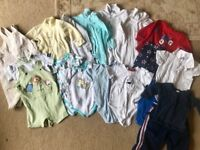 Bundle of boys size 0 clothes (to fit 6-12 month old)