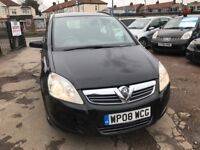 2008 Vauxhall Zafira 1.9 CDTi Exclusiv 5dr, AUTOMATIC, BLACK, 7 SEATER, WELL LOOKED AFTER,