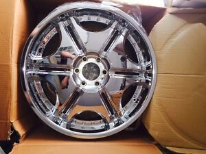 "Four NEW 22"" Chrome Wheels 6x135"