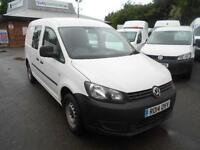 Volkswagen Caddy 1.6 TDI 102PS KOMBI Window Crew Van DIESEL MANUAL WHITE (2014)