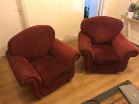 Two Red Armchairs, Great Condition. £50 for pair. Collection Only
