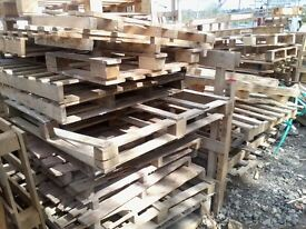 Wood offcuts and assorted non-standard pallets