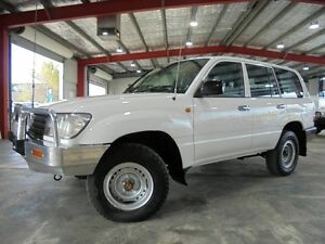 2003 Toyota Landcruiser HZJ105R Standard White 5 Speed Manual Wagon Welshpool Canning Area Preview