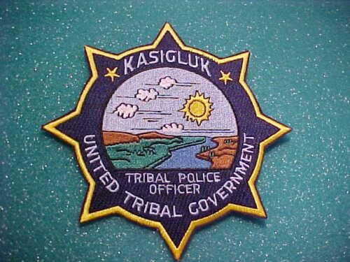 KASIGLUK ALASKA POLICE PATCH SHOULDER SIZE UNUSED