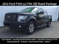 2012 Ford F-150 FX4 ~ 3.5L Ecoboost ~ Tow Package $198 B/W
