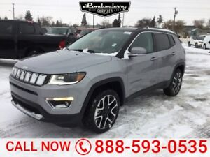 2018 Jeep Compass 4X4 LIMITED                  Heated Leather In